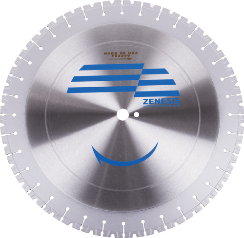 V NOTCH ZENESIS WALL SAW BLADE